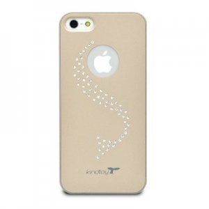 Чехол-накладка для Apple iPhone 5/5S - Kindtoy Swarovski Wave золотистый