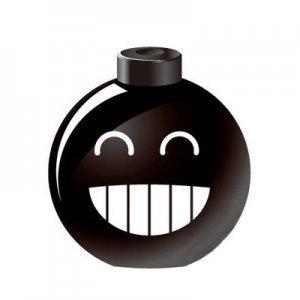 Портативная колонка Kindtoy Bomb Smile черная