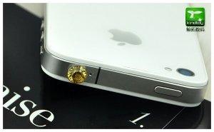 Заглушка для разъема 3,5 мм - Kindtoy Diamond желтая