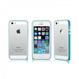 Бампер Kindtoy голубой для iPhone 5/5S/SE