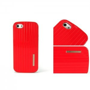 Чехол-накладка для Apple iPhone 5/5S - Luxury Shining Vertical Bar красный