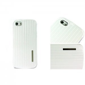 Чехол-накладка для Apple iPhone 5/5S - Luxury Shining Vertical Bar белый