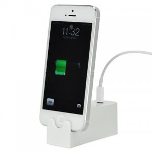 Док-станция Microscler белая для iPhone 5/5C/5S/SE/6/6S/7/8