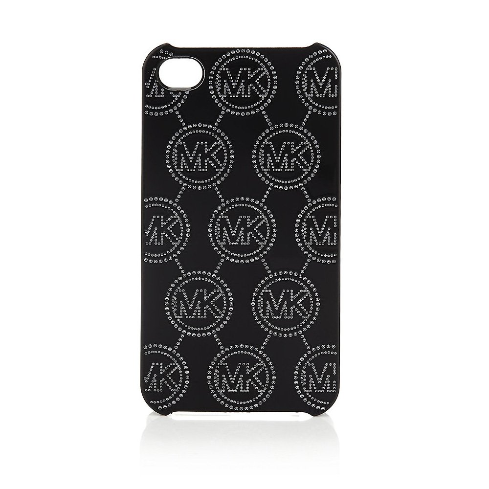 Чехол с рисунком Michael Kors Design Electroplating Monogram черный для iPhone 5/5S/SE