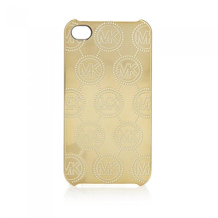 Чехол с рисунком Michael Kors Design Electroplating Monogram золотой для iPhone 5/5S/SE
