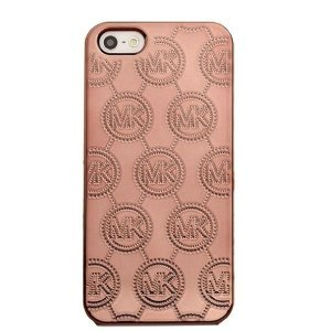 3D чехол Michael Kors Design Electroplating Monogram бронзовый для iPhone 5/5S/SE