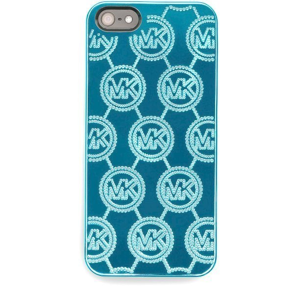 Чехол-накладка для Apple iPhone 5/5S - Michael Kors Design Electroplating Monogram голубой
