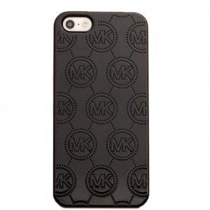 Чехол с рисунком Michael Kors Design Fashion Monogram черный для iPhone 5/5S/SE