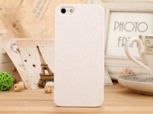 Пластиковый чехол Michael Kors Design Fashion Monogram белый для iPhone 5/5S/SE