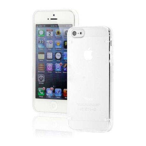 Чехол-накладка для Apple iPhone 5C - Transparent Plastic & TPU Combo белый