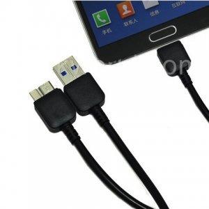 Кабель для зарядки и синхронизации для Samsung Galaxy Note 3 черный, 2м
