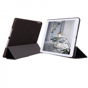 Кожаный чехол книжка Belk Smart Case коричневый для iPad Air/iPad (2017)