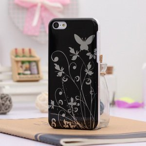 Чехол-накладка Butterfly Pattern черный для iPhone 5C
