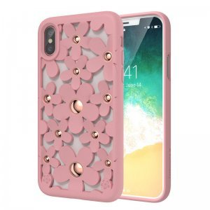 Чехол SwitchEasy Fleur розовый для iPhone X