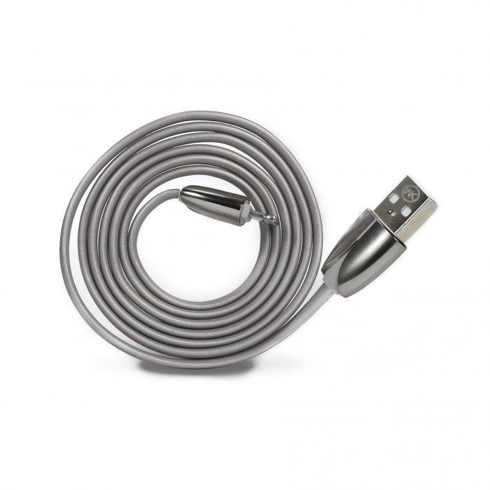 Кабель Lightning для Apple iPhone/iPad/iPod - WK ChanYi серебристый