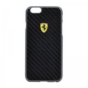 Чехол-накладка для Apple iPhone 6/6S - Ferrari Scuderia Carbon черный