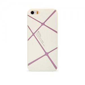 Чохол-накладка для Apple iPhone 5 / 5S - Cococ Lines білий