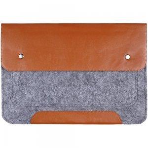 """Чехол-конверт Gmakin GM02 на кнопках коричневый для MacBook Air 13""""/Pro 13""""/ Pro 13"""" Retina"""