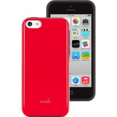 Чехол-накладка для Apple iPhone 5C - Moshi iGlaze Remix красный