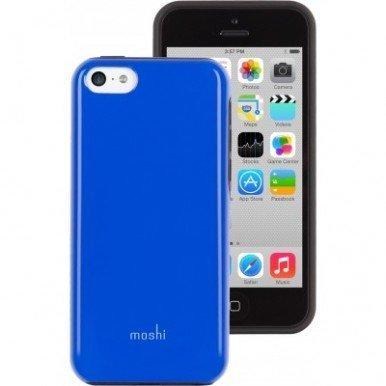 Пластиковый чехол Moshi iGlaze Remix синий для iPhone 5C