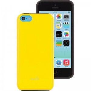 Чехол-накладка для Apple iPhone 5C - Moshi iGlaze Remix желтый