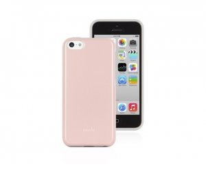Пластиковый чехол Moshi iGlaze Remix розовый + белый для iPhone 5C