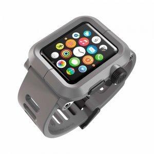 Чехол-ремешок для Apple Watch - LunaTik EPIK 2 серый поликарбонат + серый силиконовый ремешок