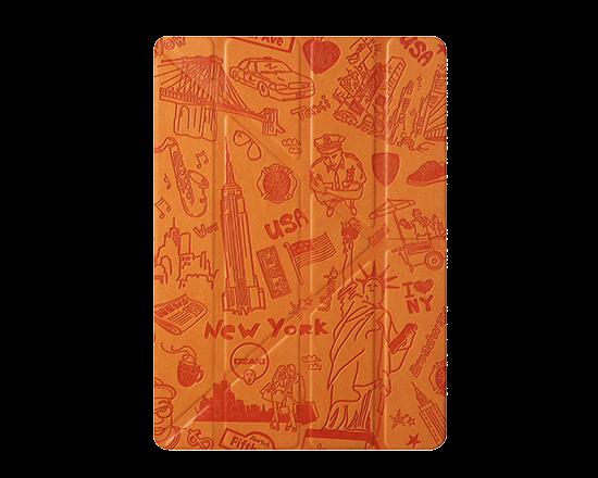 Чехол-книжка для Apple iPad Air/Air 2 - Ozaki O!coat Travel New York оранжевый