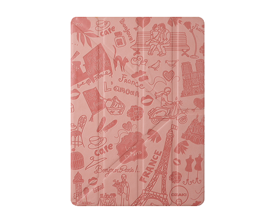 Чехол-книжка для Apple iPad Air/Air 2 - Ozaki O!coat Travel Paris розовый
