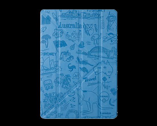 Чехол-книжка для Apple iPad Air/Air 2 - Ozaki O!coat Travel Sydney голубой