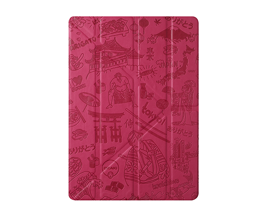 Чехол-книжка для Apple iPad Air/Air 2 - Ozaki O!coat Travel Tokyo розовый