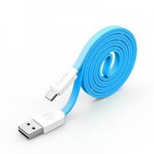 Кабель Micro-USB - Baseus String 1м, синий + белый