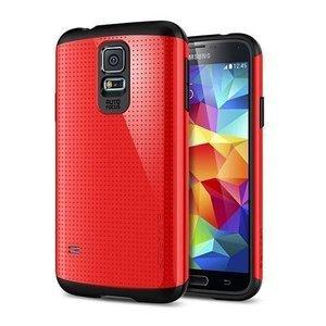 Чехол-накладка для Samsung Galaxy S5 - SGP Slim Armor красный