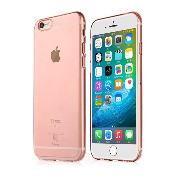 Полупрозрачный чехол Baseus Clear розовый для iPhone 6/6S