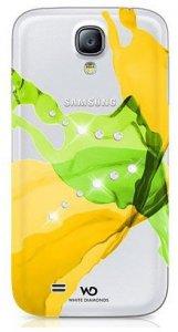 Чехол-накладка для Samsung Galaxy S4 - White Diamonds Liquids желтый