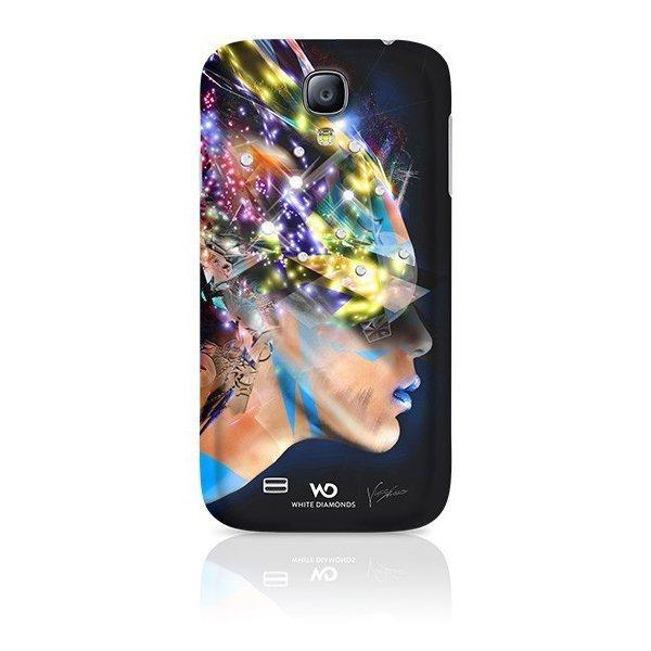 Чехол-накладка для Samsung Galaxy S4 - White Diamonds Nafrotiti черный