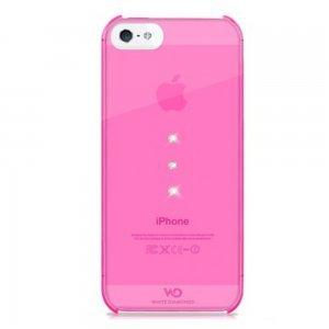 Чехол-накладка для Apple iPhone 5S/5 - White Diamonds Trinity розовый