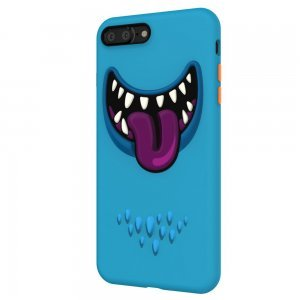 3D чехол с рисунком SwitchEasy Monsters синий для iPhone 7 Plus