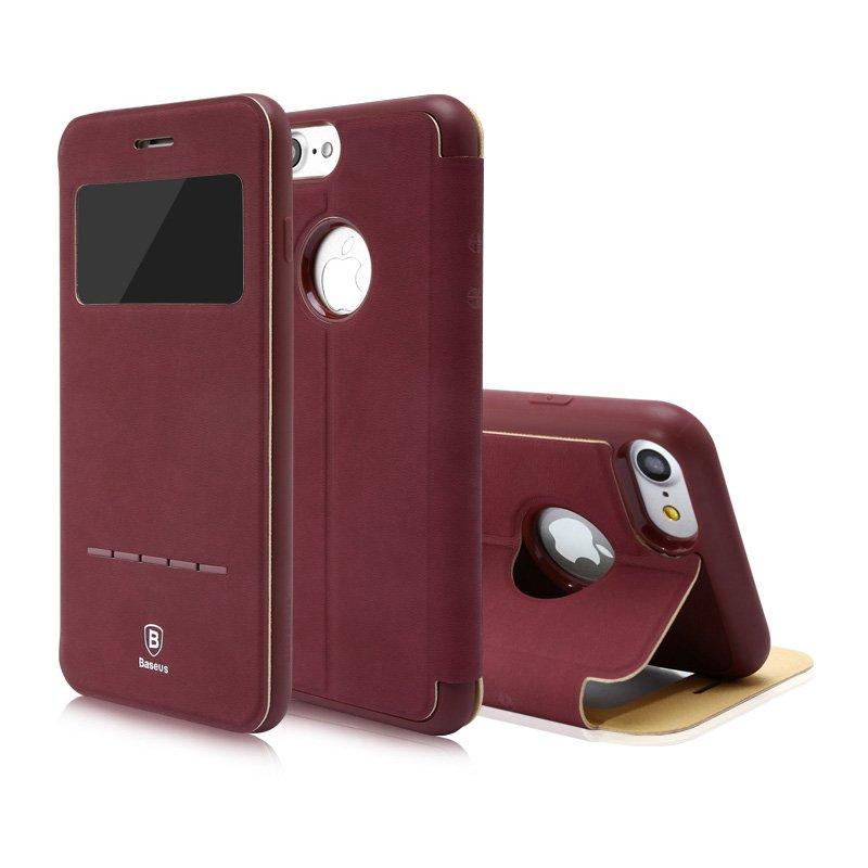 Чехол (книжка) с подставкой Baseus Simple красный для iPhone 8/7