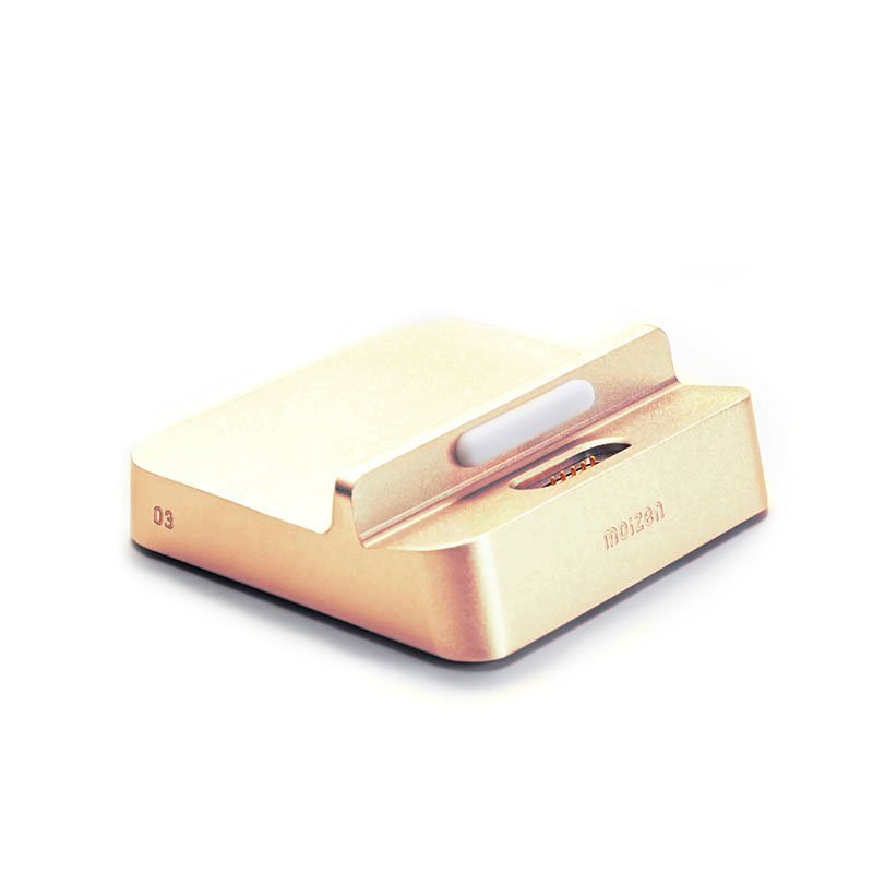 Док-станция для Apple iPhone 5/5C/5S/6/6S - Moizen Cabin Dock золотистая