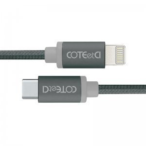 Кабель COTEetCI M38 Type-C to Lightning Cable 1.2м, черный