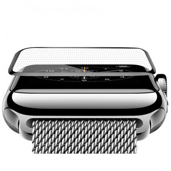 Защитное стекло COTEetCI 4D Black-Rim Full Viscosity для Apple Watch 3/2/1 38mm