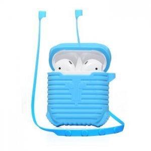 Чехол для наушников Coteetci синий для Apple Airpods