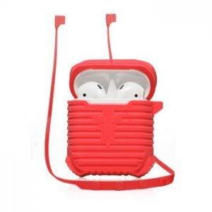 Чехол для наушников Coteetci красный для Apple Airpods