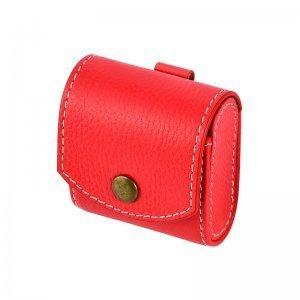 Кожаный чехол Coteetci красный для Apple AirPods