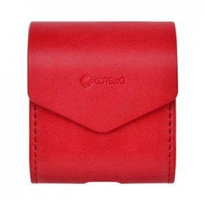 Кожаный (PU) чехол Coteetci красный для Apple AirPods