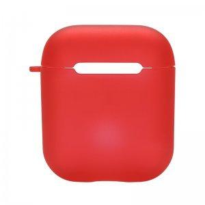 Силиконовый чехол Coteetci полупрозрачный красный для Apple AirPods