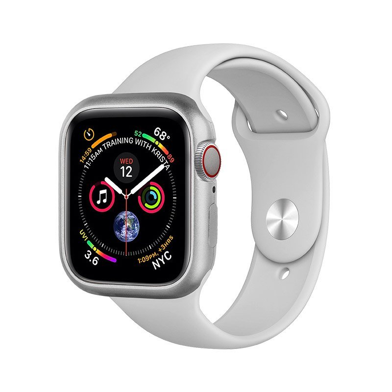 Магнитный чехол Coteetci серебристый для Apple Watch 4 44mm
