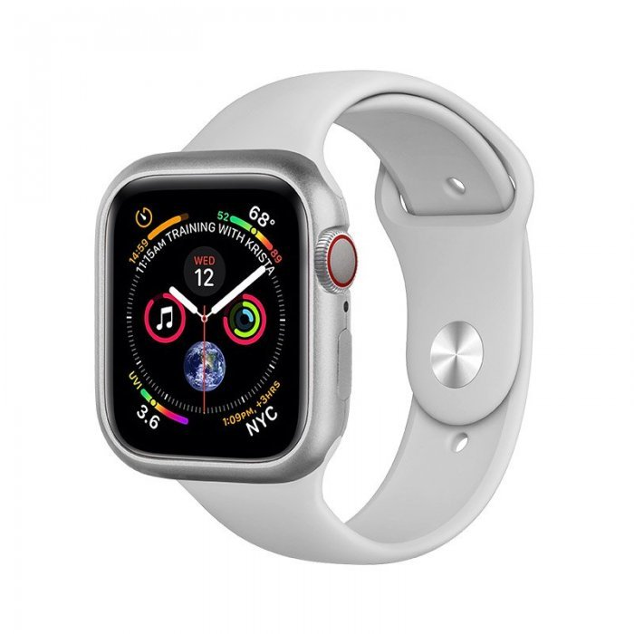 Магнитный чехол Coteetci серебристый для Apple Watch 4/5 40mm