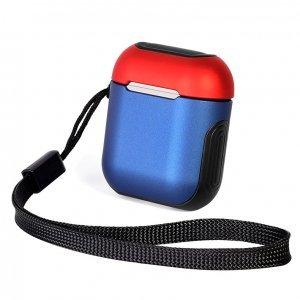 Защитный чехол Coteetci Armor синий + красный для Apple AirPods